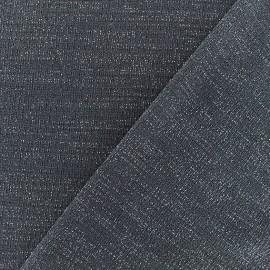 Tissu jersey lurex - Gris/argent x 10cm