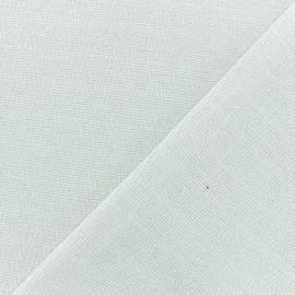 Tissu jersey lurex - Blanc cassé/argent x 10cm