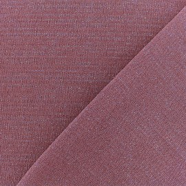 Lurex Jersey Fabric - Old Pink/Silver x 10cm