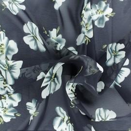Tissu mousseline Bianca - marine x 50cm