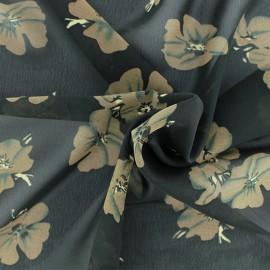 Tissu mousseline Bianca - noir x 50cm