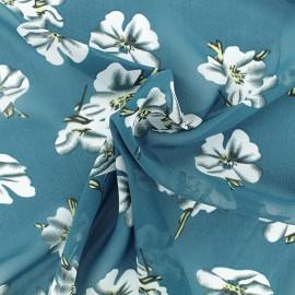 Tissu mousseline Bianca - Pétrole x 50cm