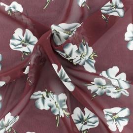 Tissu mousseline Bianca - Bordeaux x 50cm