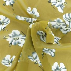 ♥ Coupon 250 cm X 145 cm ♥  Muslin Fabric - Mustard Bianca