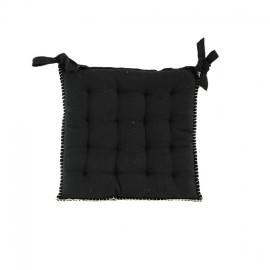 Galette de Chaise Portofino 40x40 cm - Noir