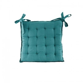 Chair Cushion 45x45 cm - Peacock Blue Portofino