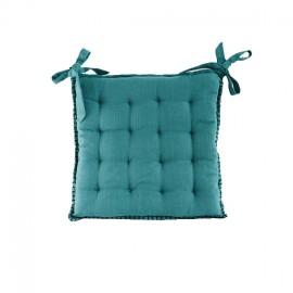 Galette de Chaise Portofino 45x45 cm - Bleu Canard