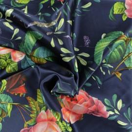 ♥ Coupon 200 cm X 140 cm ♥  Polyester satin fabric - blue Aglaé