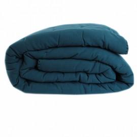 Couvre-lit + 2 taies Portofino 240x260 cm - Bleu Pétrole
