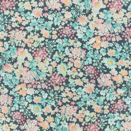 Poplin Fabric - Grey Robert Kaufman Forêt enchantée x 10cm