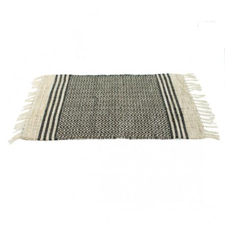 Tapis coton/jute Manjit 55x85 cm