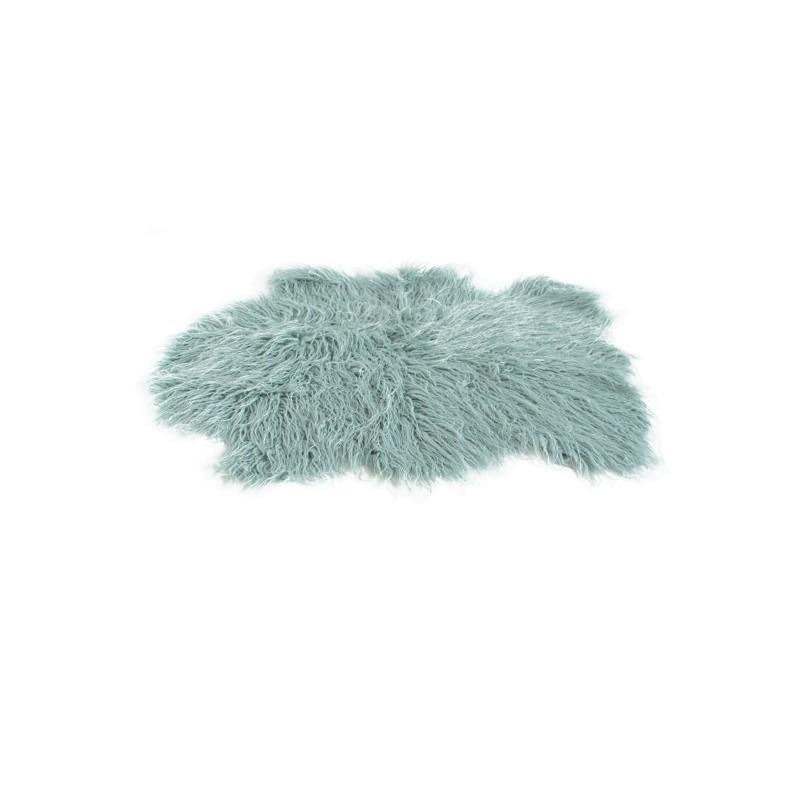 tapis peau de mouton 60x90 cm bleu - Tapis Peau De Mouton