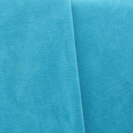 """Jersey sponge velvet fabric -""""Bondi"""" blue x 10cm"""