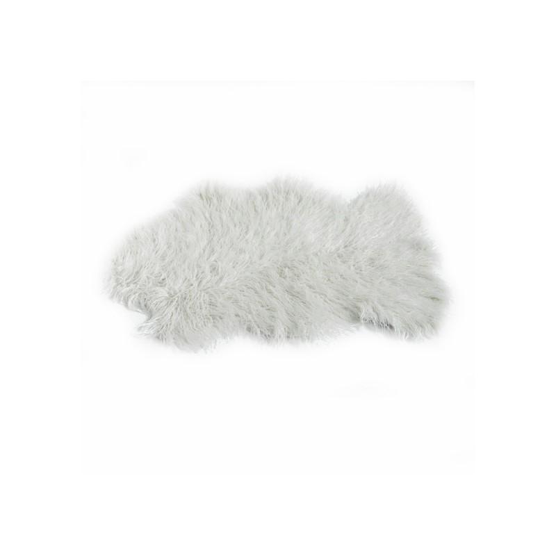 tapis peau de mouton 60x90 cm blanc cass. Black Bedroom Furniture Sets. Home Design Ideas