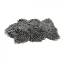 tapis peau de mouton 60x90 cm anthracite - Tapis Peau