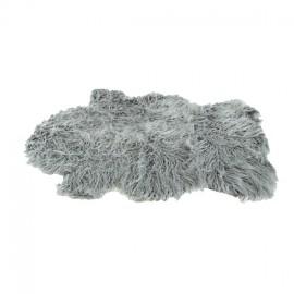 tapis peau de mouton 60x90 cm argent - Tapis Peau