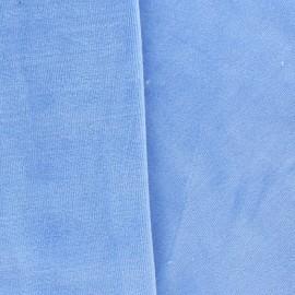 Jersey sponge velvet fabric - sky x 10cm