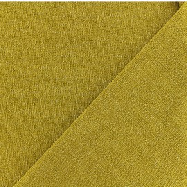 Lurex Jersey Fabric - Mustard yellow/Gold x 10cm