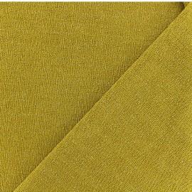 Lurex Jersey Fabric - Mustard yellow x 10cm