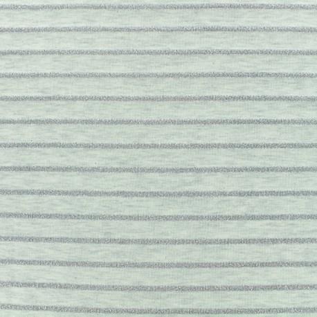 Jersey fabric - Off-white Lurex stripes x 10cm