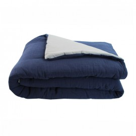 Quilted Blanket 130x170 cm - Night Blue Jaipur