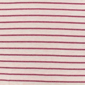 Jersey fabric - Pink Lurex stripes x 10cm