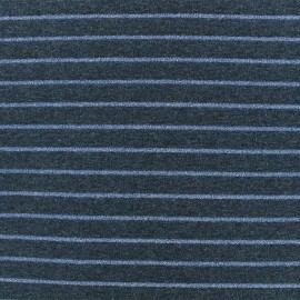 ♥ Only one piece 100 cm X 160 cm ♥ Jersey fabric - Blue Lurex stripes