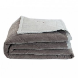 Quilted Blanket 130x170 cm - Taupe Seattle