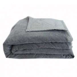Quilted Blanket 130x170 cm - Grey Seattle