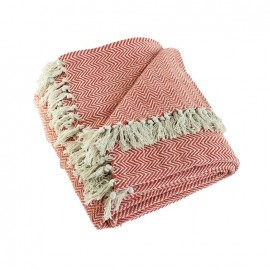 Recycled Cotton Blanket - Red Goa