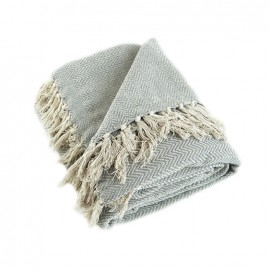 Recycled Cotton Blanket - Grey Goa