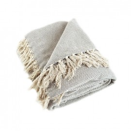 Plaid en Coton Recyclé Goa - Beige