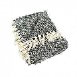 Recycled Cotton Blanket - Black Goa