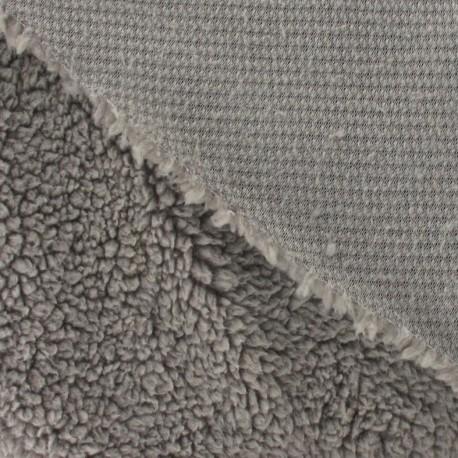 Fourrure mouton gris-beige