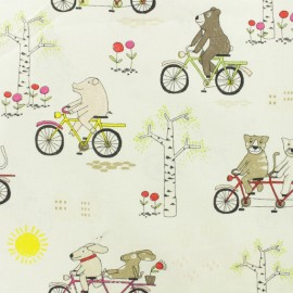 Cotton fabric - Cream Tandem x 10cm