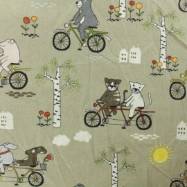 Cotton fabric - Taupe Tandem x 10cm
