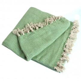 Plaid en Coton Recyclé Goa - Vert