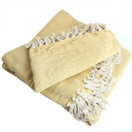 Recycled Cotton Blanket - Yellow Goa
