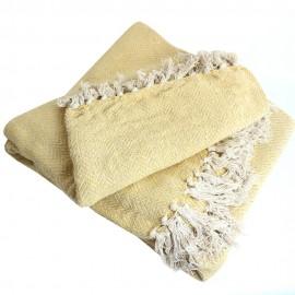 Recycled Cotton Blanket - Yellow Goa
