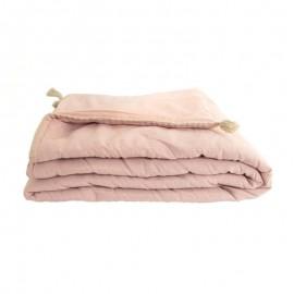 Quilted Blanket 90x190 cm - Powder Pink Portofino
