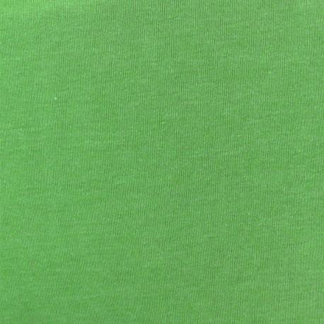 Tissu sweat léger chiné - vert pomme x 10cm