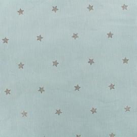 Tissu velours milleraies Stars - bleu ciel x 10cm