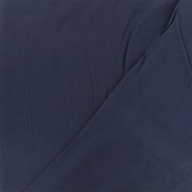 Tissu twill viscose - bleu marine x 10 cm