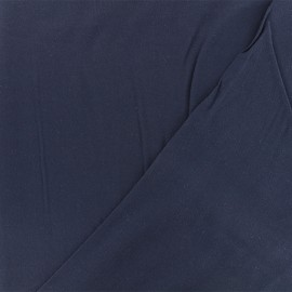 Twill viscose fabric - navy blue x 10 cm