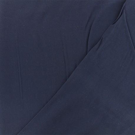 Tissu viscose sergé - bleu marine x 10 cm