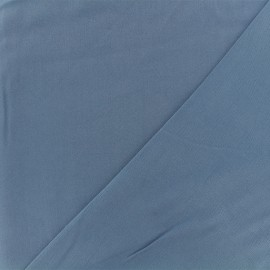 Tissu twill viscose - bleu x 10 cm