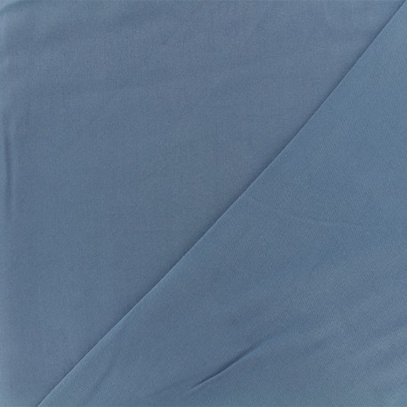 Tissu viscose sergé - bleu x 10 cm