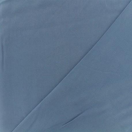 Twill viscose fabric - blue x 10 cm