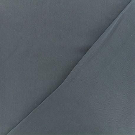 Tissu viscose sergé - Gris bleu x 10 cm
