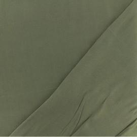 Tissu twill viscose - kaki x 10 cm